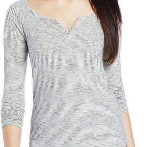 Women's Lucky Brand Long Sleeve Mock Henley Tee